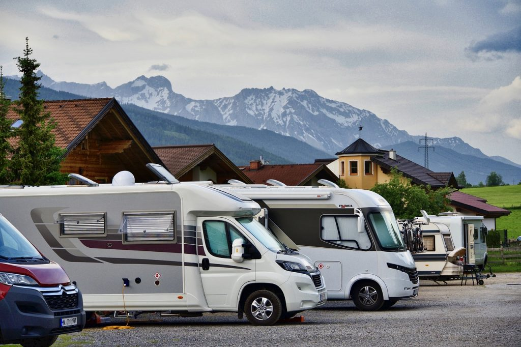 camping, motorhome, traveling